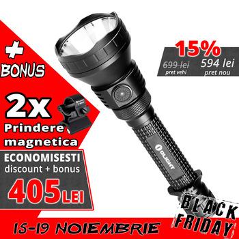 Lanterna Olight M3XS-UT Javelot + 2 Prinderi magnetice