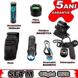 Set complet lanterna vanatoare Olight SET M