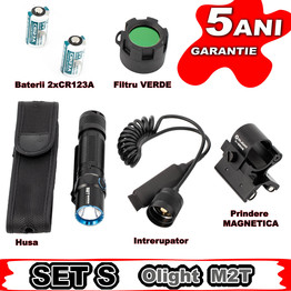 Set complet lanterna vanatoare Olight SET S