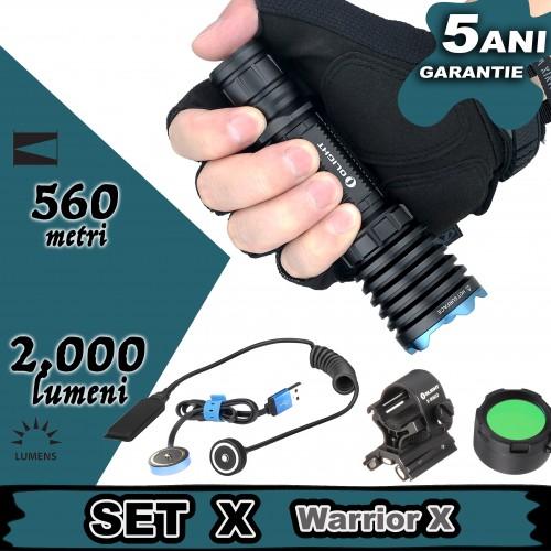 Set complet lanterna vanatoare Olight SET X