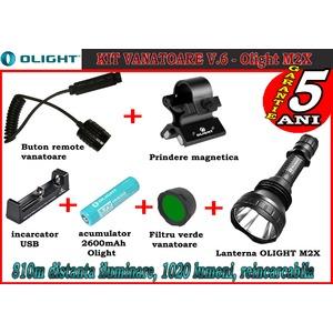 Set complet lanterna led vanatoare Olight V6 - M2X reincarcabil
