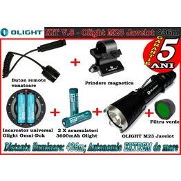 Set complet lanterna led vanatoare Olight V8 - M23 reincarcabil PRO