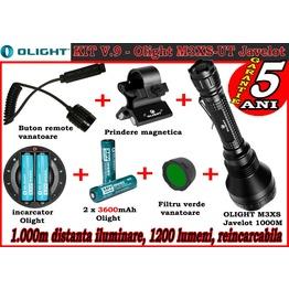 Set complet lanterna led vanatoare Olight V9 - M3XS-UT reincarcabil