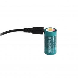 Acumulator microUSB RCR123A 650mAh
